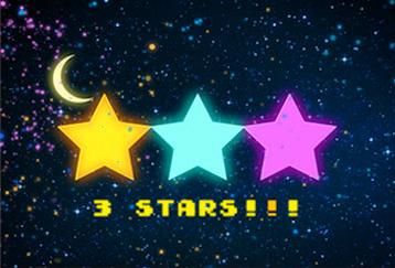 スマイルスター:笑顔度合いで星空を3段階に切り替え